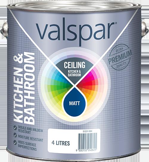 Product range for Valspar kitchen and bath paint